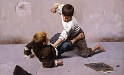 the-showdown-an-oil-painting-by-giulio-del-torre