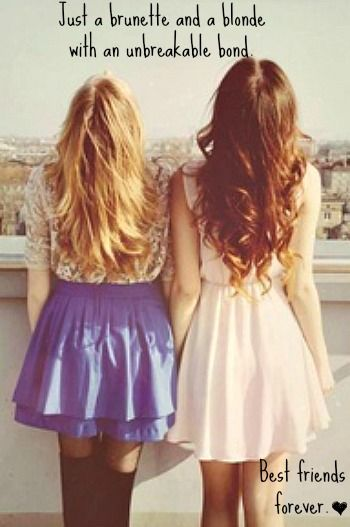 Blonde and brunette best friend Etsy
