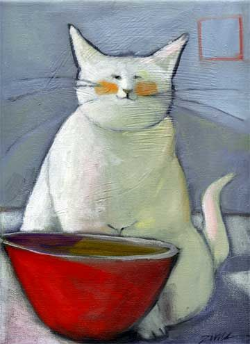 white-cat-red-bowl