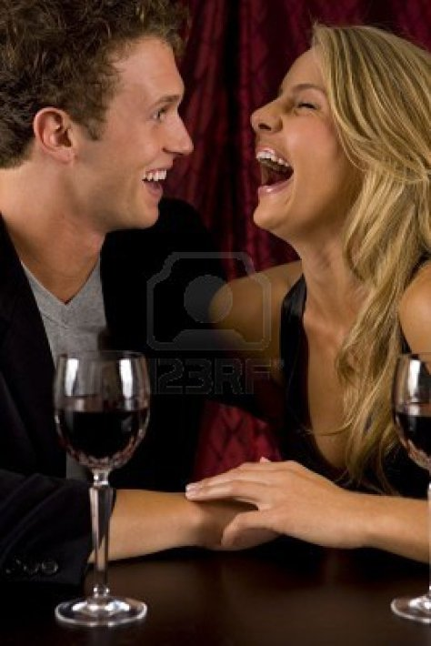 attractive-young-couple-laughing
