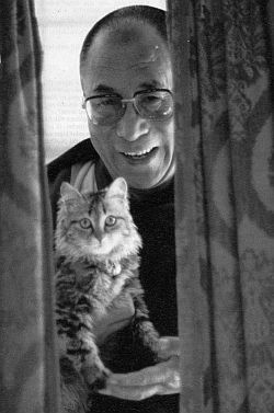 Dalai Lama and friend